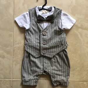Infant boy tuxedo